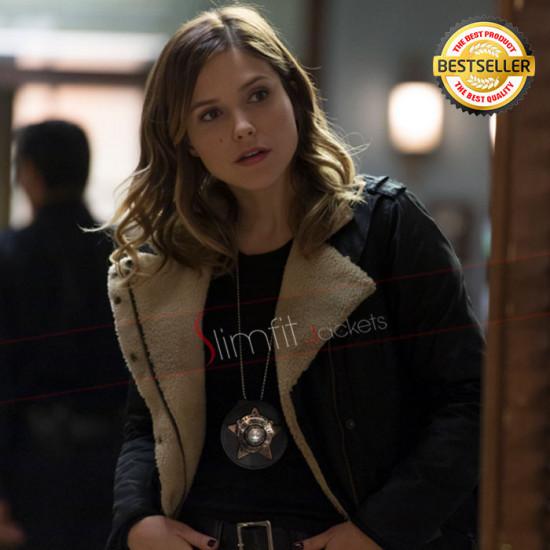 Chicago PD Sophia Bush (Erin Lindsay) Fur Leather Jacket