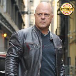 Vic Mackey The Shield Michael Chiklis Black Distressed Jacket
