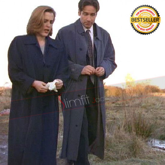 David Duchovny X-Files Agent Fox Mulder Trench Coat