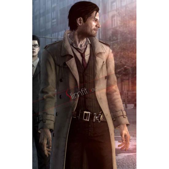 The Evil Within Sebastian Castellanos Leather Coat