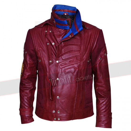 New Starlord Cosplay Halloween Leather Jacket