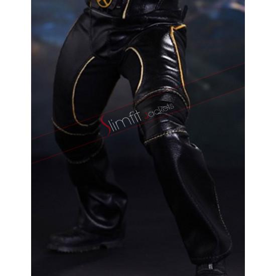 X-Men 2 United Wolverine Black Leather Pants