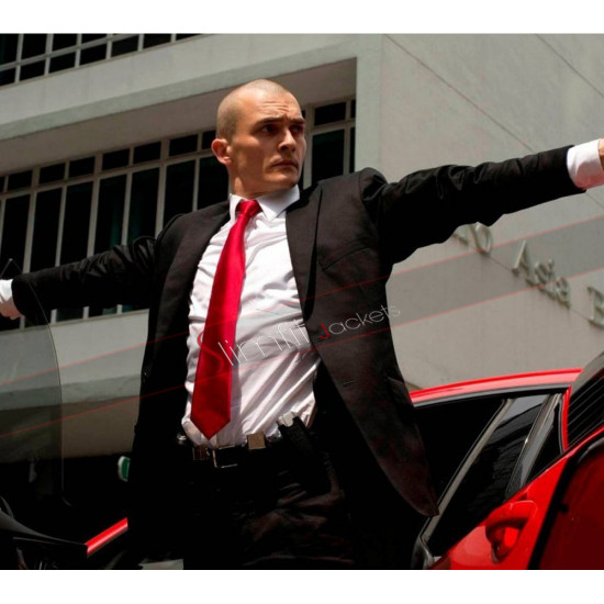 Hitman Agent 47 Rupert Friend Black Suit
