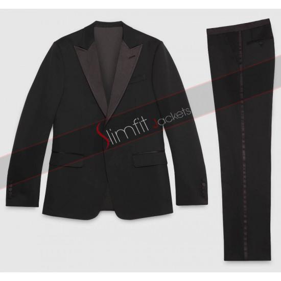 Bruce Wayne Batman V Superman Black Tuxedo Suit