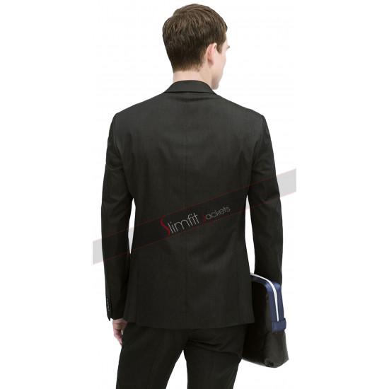 Casual Slim Black Party Suit