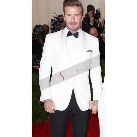 Ivory White David Beckham Prom Tuxedo Suit