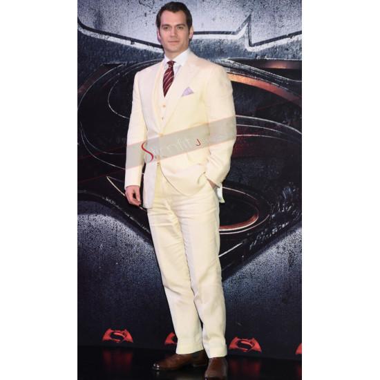 Henry Cavill Batman v Superman Premiere White Suit