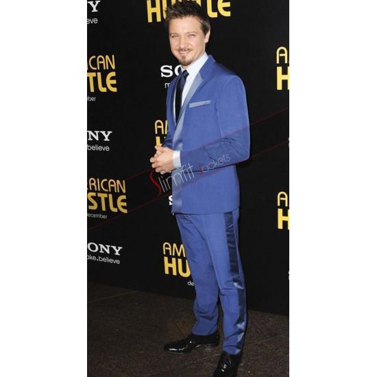 Jeremy Renner American Hustle Blue Suit