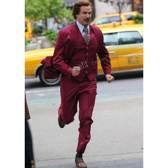 Anchorman 2 Will Ferrell Red Suit