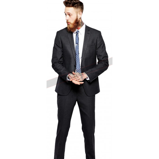 Black Slim Cut Sample Suit