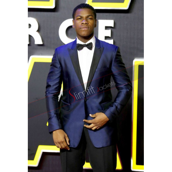 John Boyega Star Wars Premiere Blue Suit
