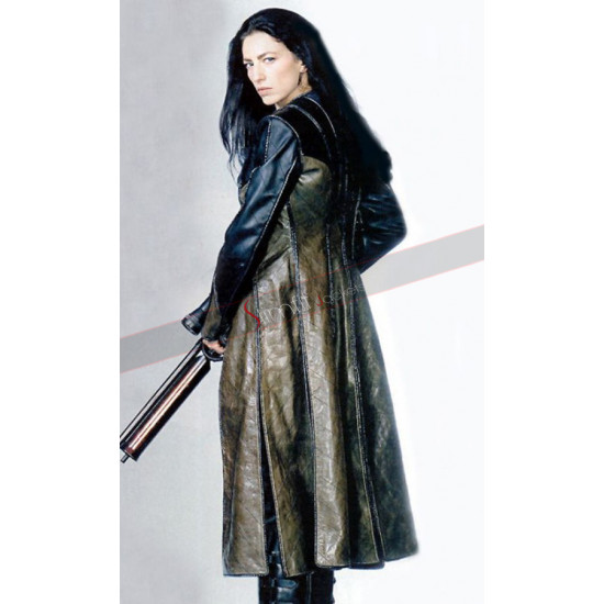Aeryn Sun Farscape Claudia Black Leather Coat