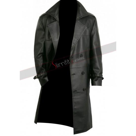 Black Leather Coat Punisher War Zone Frank Castle Thomas Jane Leather Trench Coat Jacket