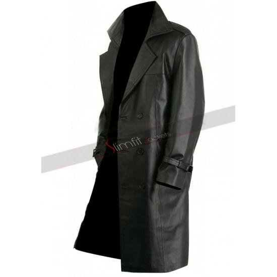 Punisher Jon Bernthal (Frank Castle) Black Leather Trench Coat