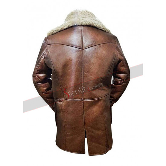 Bane Dark Knight Rises Tom Hardy Shearling Coat