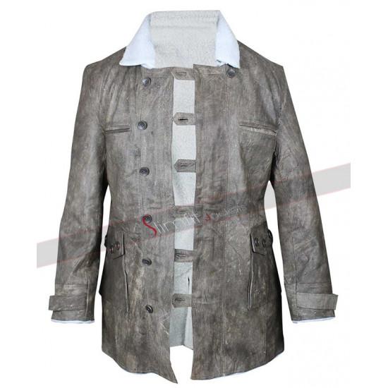 Dark Knight Rises Bane Grey Leather Coat