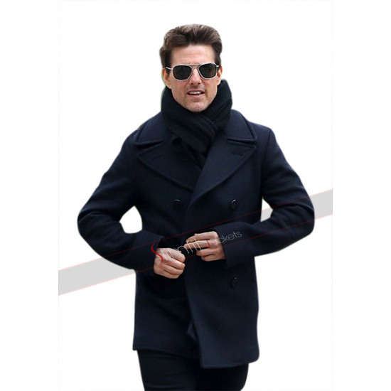 Mission Impossible 6 Tom Cruise Wool Black Coat
