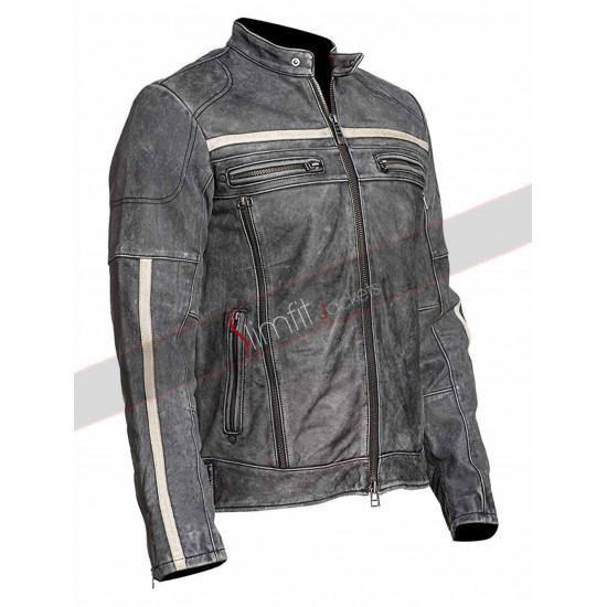 Moon Black Rider Motorcycle Leather Jacket