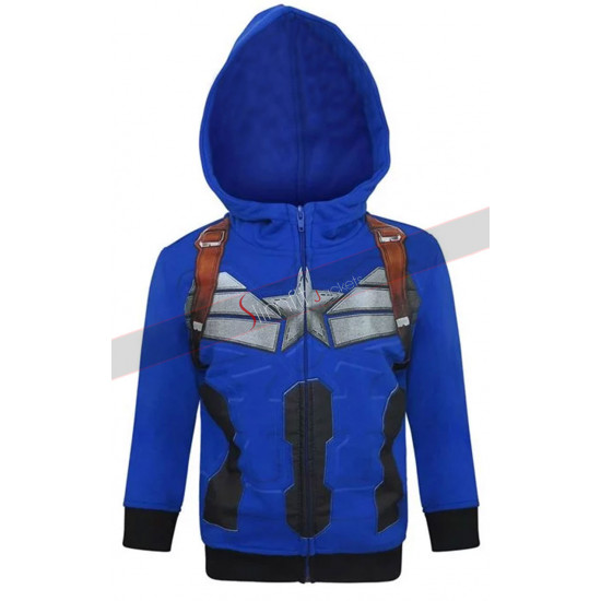 Avengers Infinity War Captain America Hoodie Cotton Jacket Costume