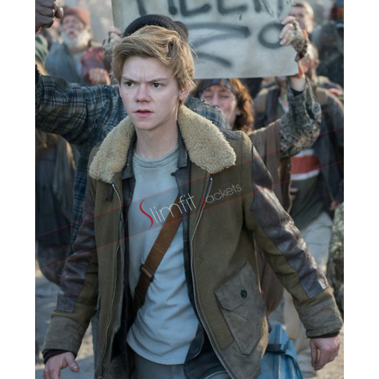 Maze Runner The Death Cure Thomas Sangster Brown Jacket