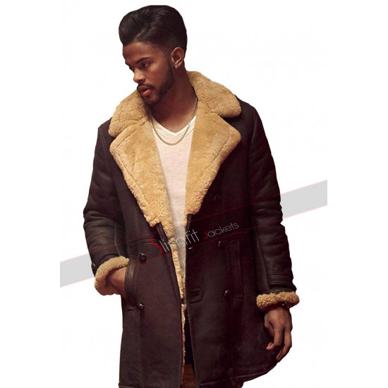 SuperFly Trevor Jackson Youngblood Priest Shearling Coat