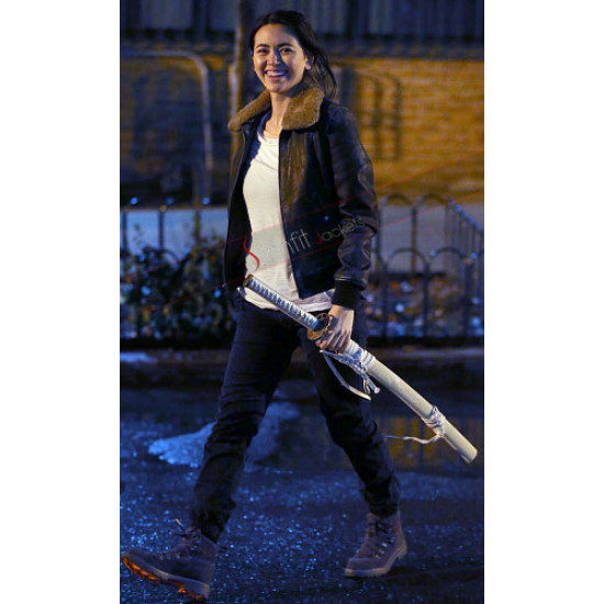 Iron Fist Colleen Wing Fur Leather Jacket