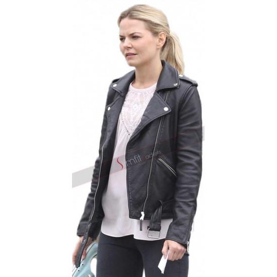 Emma Swan Once Upon a Time Season 6 Black Leather Jacket