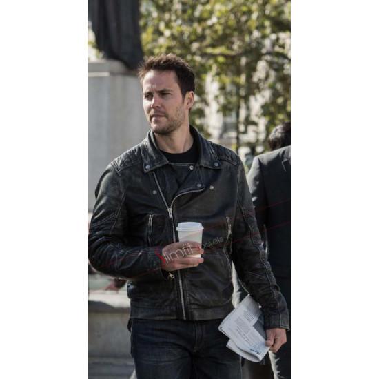 American Assassin Taylor Kitsch Movie Black Leather Jacket