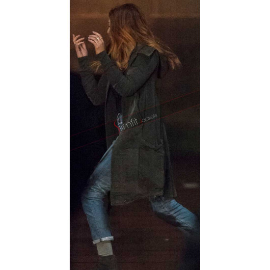 Scarlet Witch Avengers Infinity War Trench Coat
