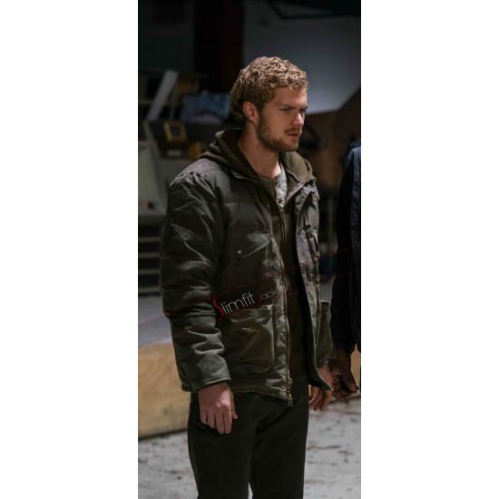 Finn Jones The Defenders Iron Fist Green Cotton Jacket