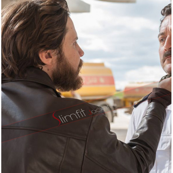 7 Days In Entebbe Daniel Bruhl Wilfried Bose Leather Jacket