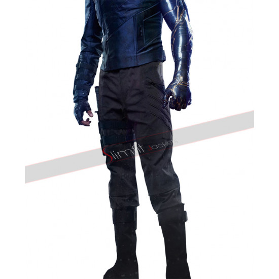 Avengers Infinity War Bucky Barnes Jacket Sebastian Stan Costume Leather Vest