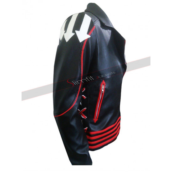 Sydney Concert 1985 Freddie Mercury Biker Black Red Jacket
