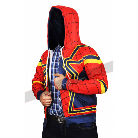 Avengers Infinity War Spiderman Hoodie Iron Spider Man Jacket