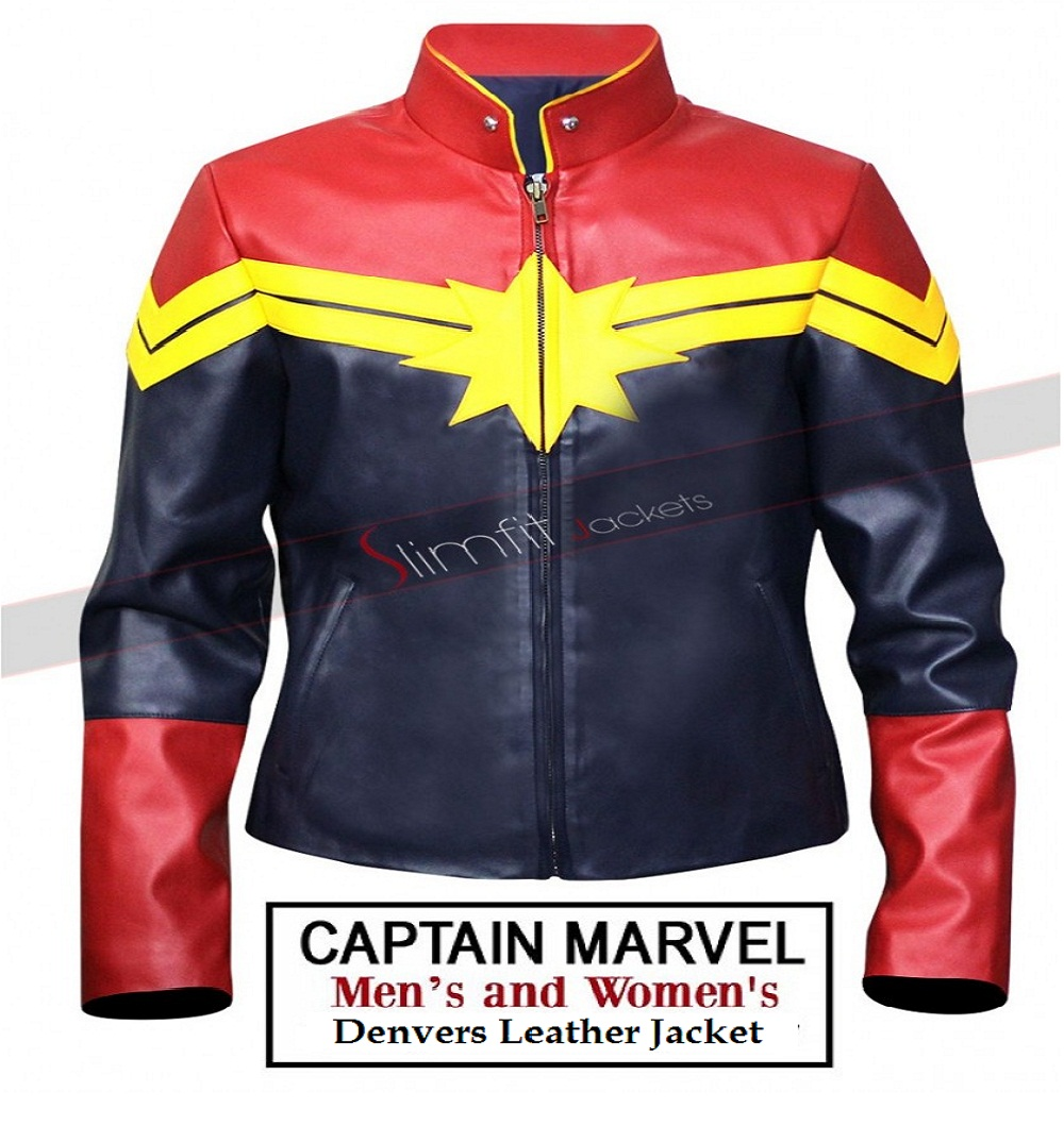 Captain Marvel Carol Denvers Leather Jacket- Avengers