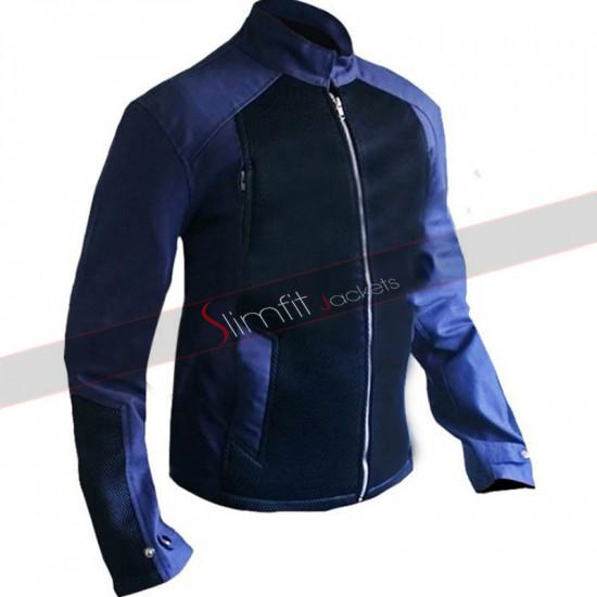 Captain America Steve Rogers Blue Denim Jacket