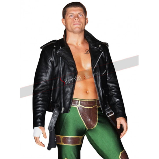 WWE Cody Rhodes Biker Leather Jacket
