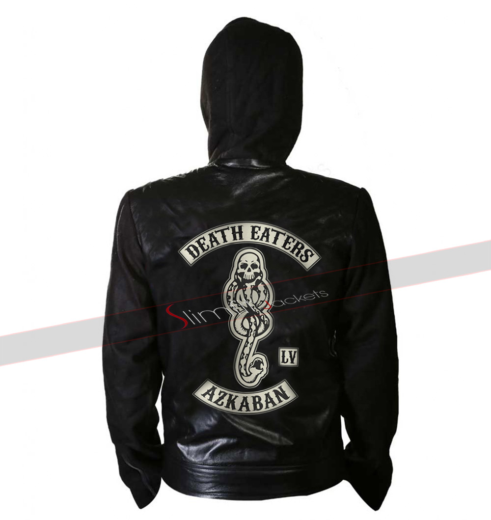 Death Eater of Azkaban Harry Potter Zip Up Hoodie Leather Jacket