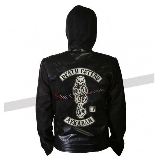 Death Eater of Azkaban Harry Potter Zip Up Hoodie Leather Jacket