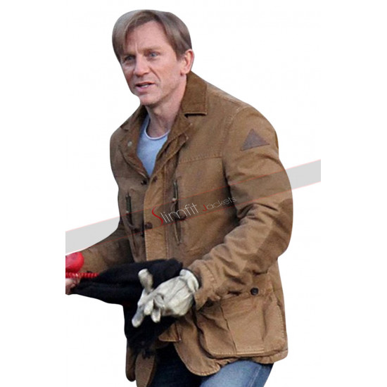 Dream House Daniel Craig Brown Leather Jacket