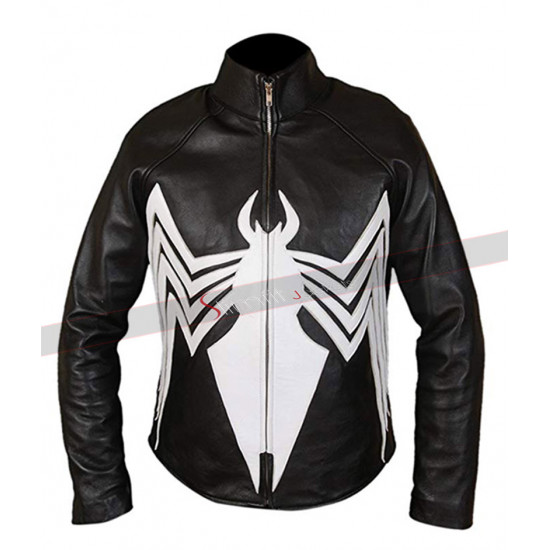 Eddie Broke Tom Hardy Venom Black Leather Jacket