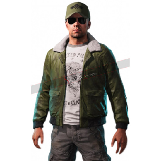 Game Far Cry 5 Mayday Green Leather Jacket