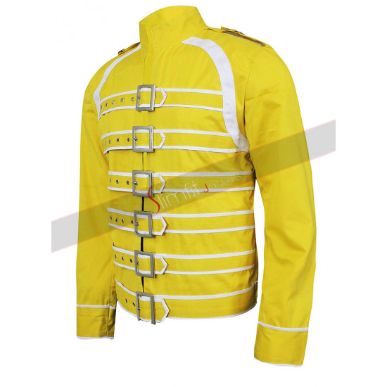 Freddie Mercury Concert Yellow Cotton Jacket