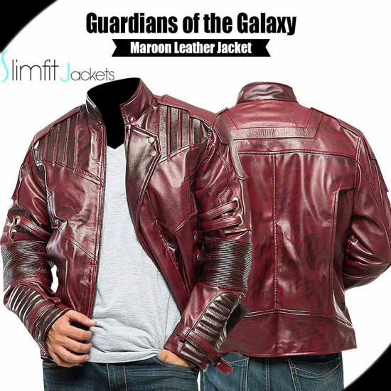 Guardians of the Galaxy Vol 2 Black Distressed Leather Jacket
