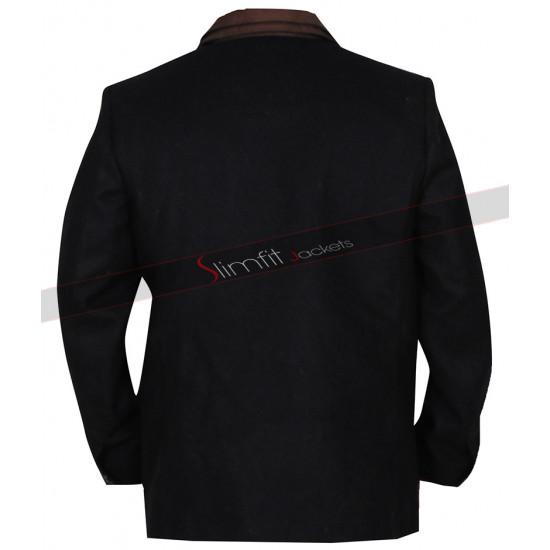 Don Johnson Blood & Oil Hap Brigg Black Wool Coat