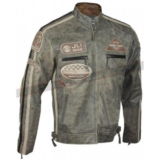 Mens Desert Vintage Jli Mode Urban Retro Biker Jacket