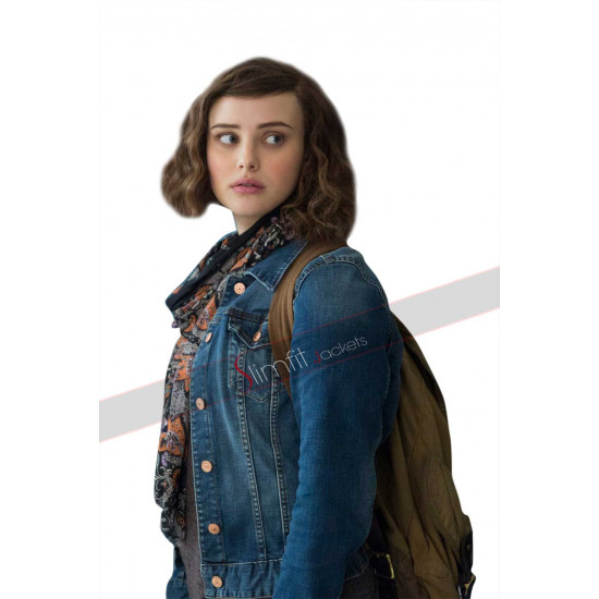 13 Reasons Why TV Series Hannah Baker Denim Jacket