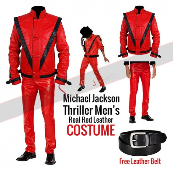 Michael Jackson Thriller Red Leather Costume