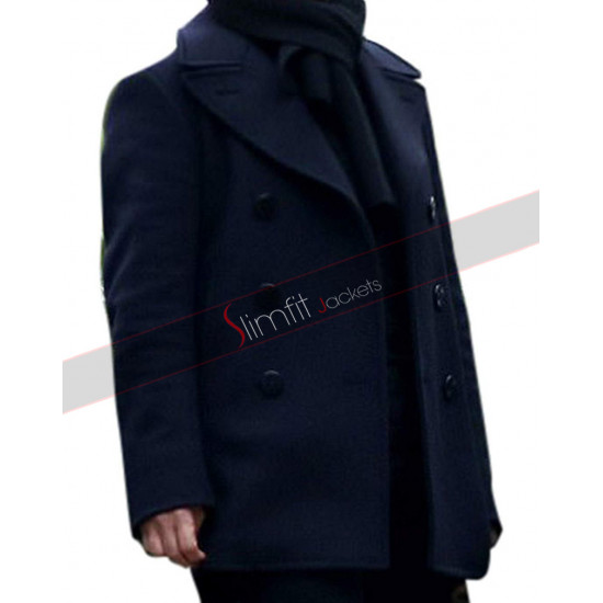 Mission Impossible 6 Fallout Tom Cruise Navy Blue Wool Coat