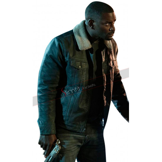 Mo McRae The First Purge Fur Leather Jacket